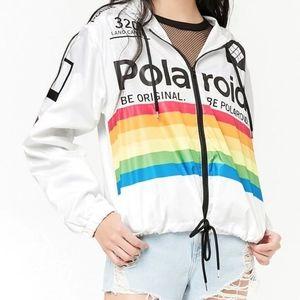 Like New Polaroid Rainbow Windbreaker Size Large